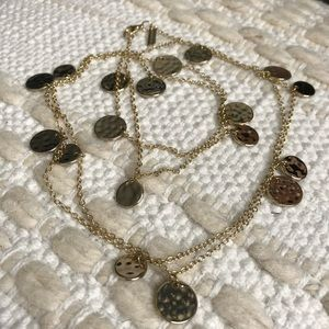 Daisy Fuentes Gold Disc Necklace